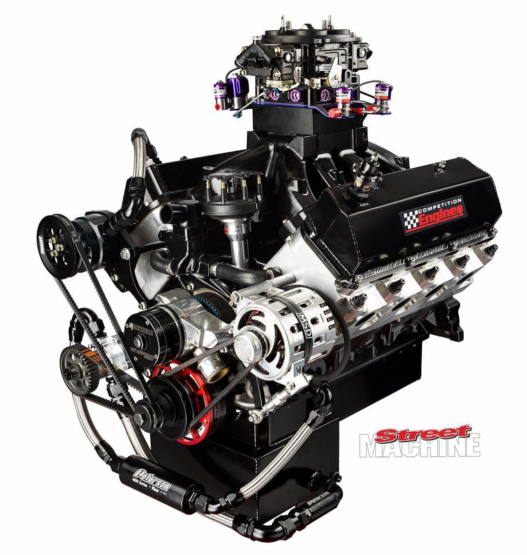 427ci windsor built by competition engines making 850hp with 300hp worth of nitrous to boot