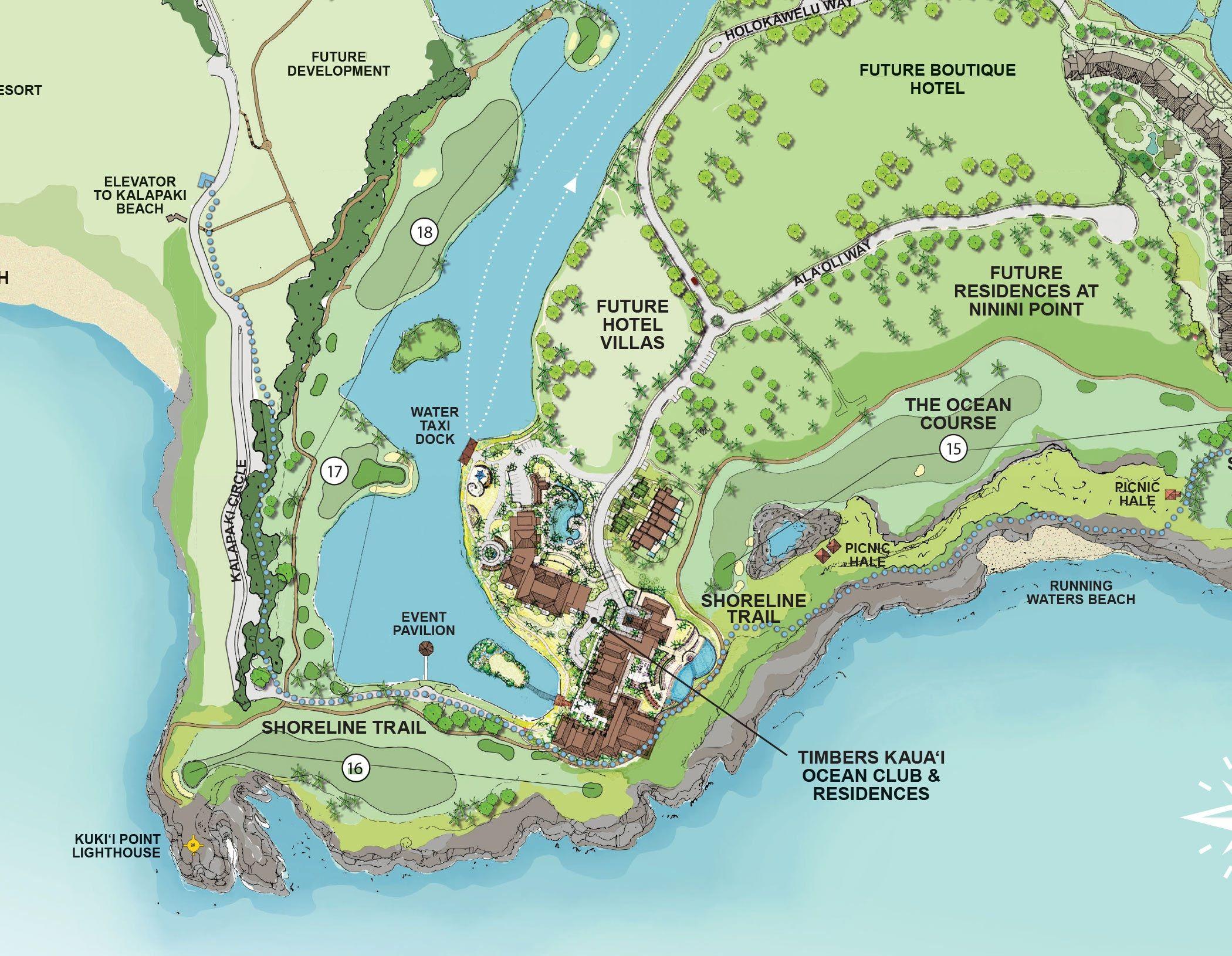 GOLF RESORT: Timbers Kauai Map | Hokuala Kauai | ✈ TRAVEL