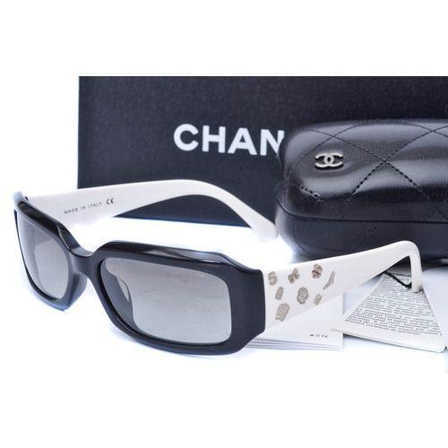 3651bc22d51 CHANEL Iconic Symbols Sunglasses 5142 Black White