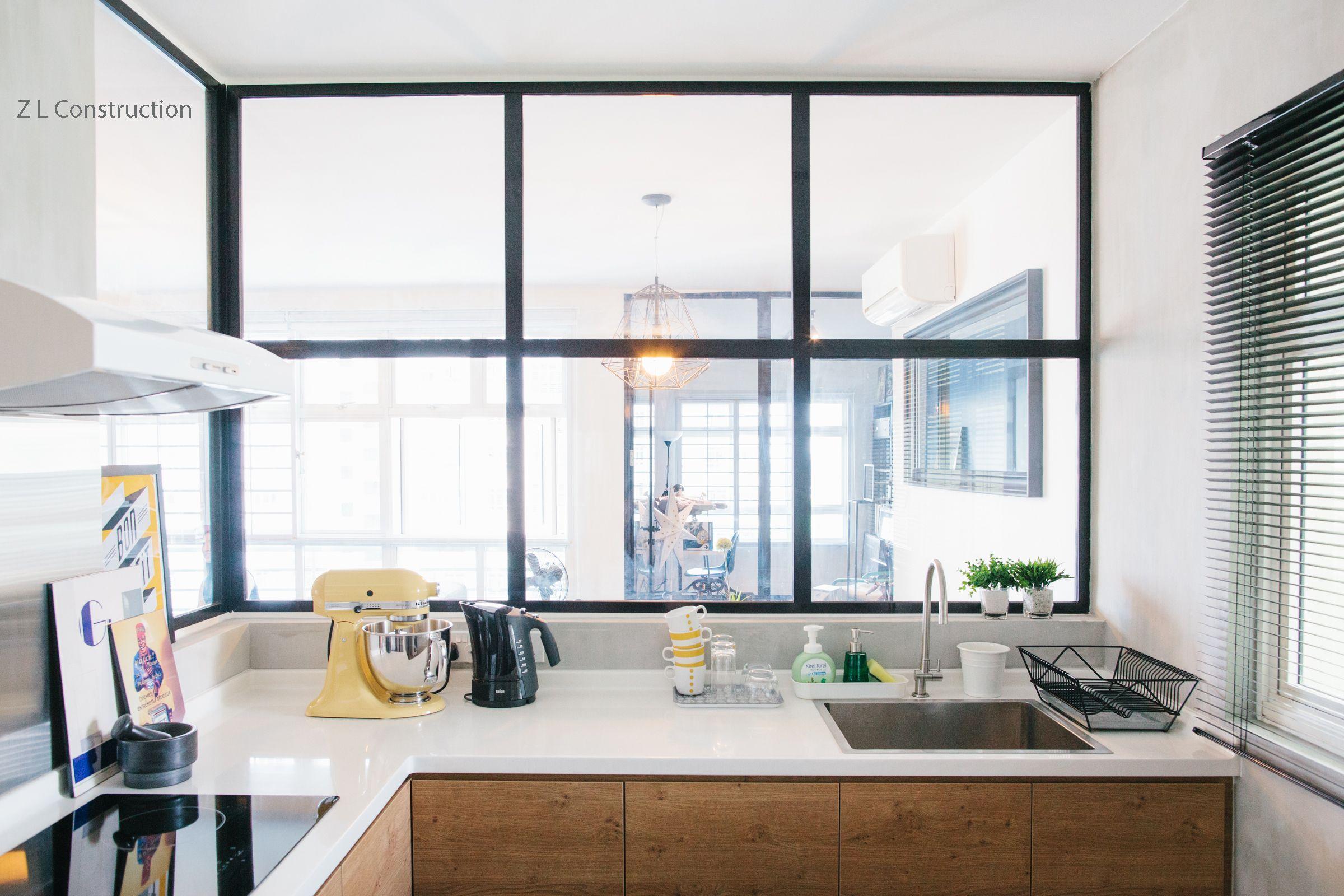 Z L Construction (Singapore) \\\\ Lattice glass with black aluminium ...