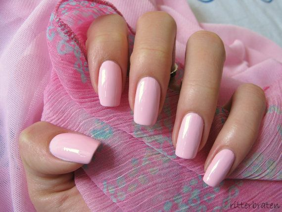 Baby Pink Nails Stiletto Nails Press On Nails Pink Nails Square Nails False Nails Glue On Nai Light Pink Acrylic Nails Baby Pink Nails Pink Acrylic Nails