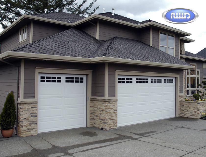 500 Series Wood Grain Raised Panel Steel Garage Doors   Northwest Door