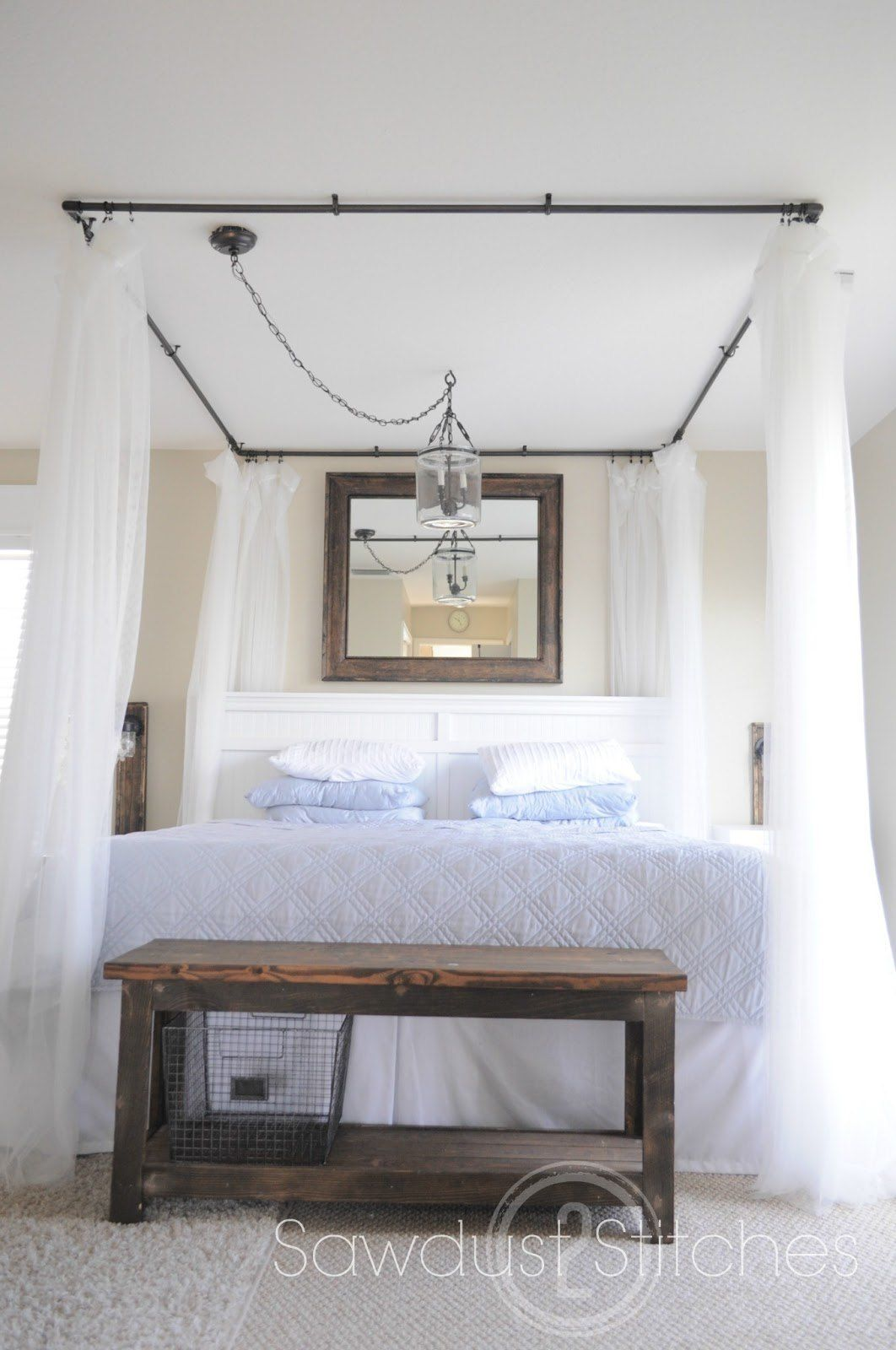 Charmant PVC Pipes And Spray Paint! Might Do This In My Moms Master Bedroom As A  Birthday Suprise! Take It From Me: DIY Canopy Bed Tutorial (Guest Post)