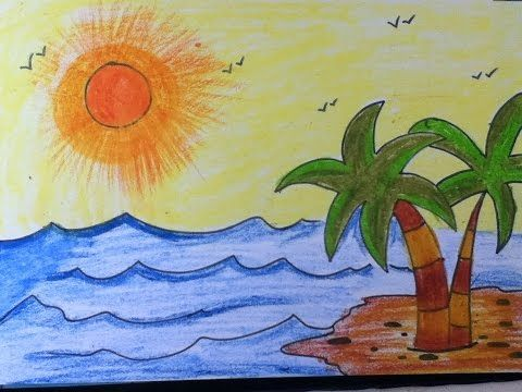 How To Draw Using Numbers Learn Drawing For Kids Learn Drawing Step By Step For Children Y Scenery Drawing For Kids Summer Drawings Art Drawings For Kids