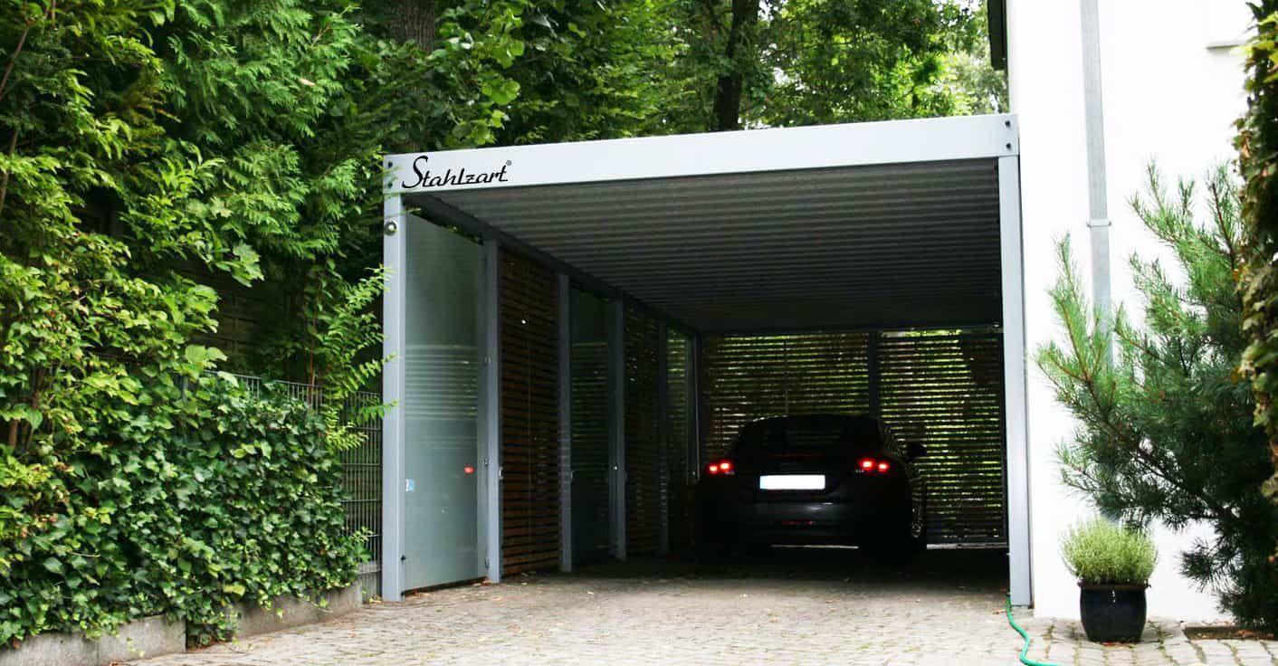 Metall Carport Ingolstadt · Stahlcarport · Design · Holz