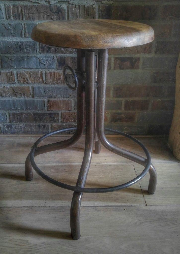 E75,- Vintage industriele kruk | krukjes | Pinterest - Vintage, Huis ...