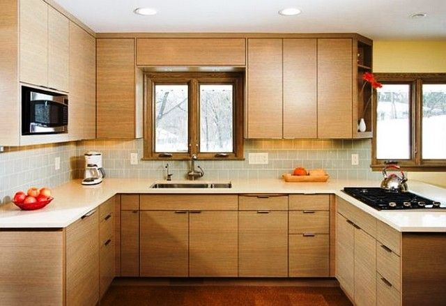 Simple kitchen design family room farmers home furniture for Simple modern kitchen cabinets