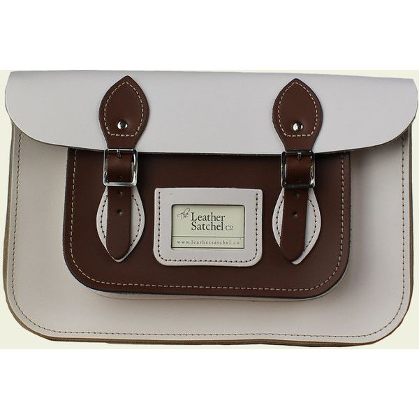 7208dfafa 12.5-inch Two-Tone Satchel made from Cloud Cream Chestnut Brown ...