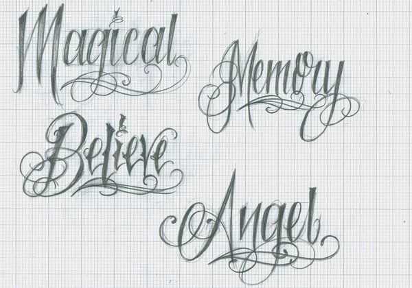 Tattoo Lettering 37 by 12KathyLees12 | Lettering - Inspiración ...
