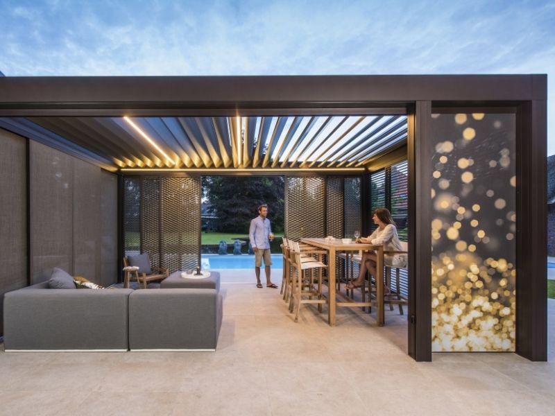 Un toit de terrasse en sept étapes u photo renson outdoor be