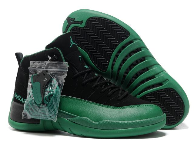 buy online f7aa2 32284 Jordan Retro 12 Green Black