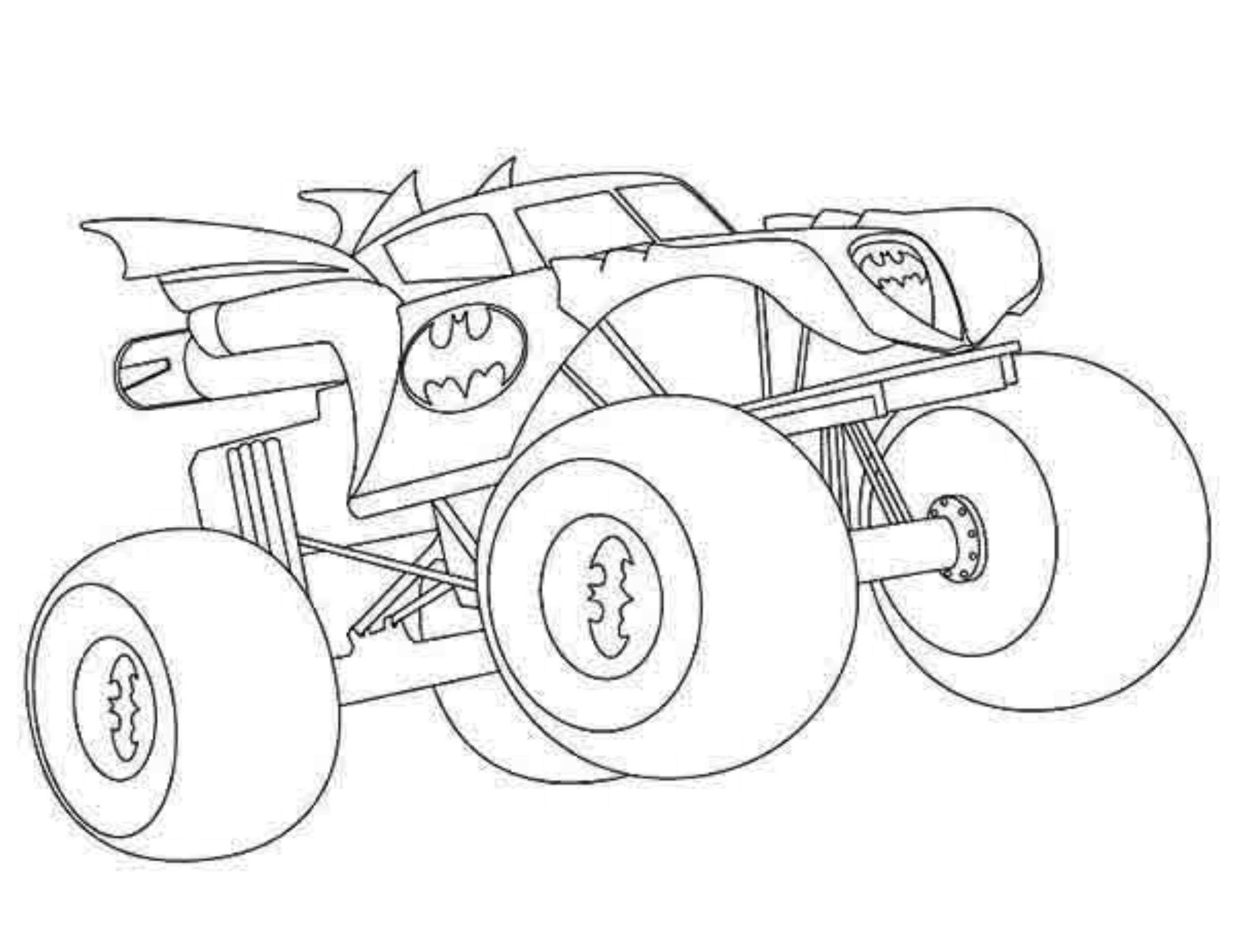 Coloring pages by numbers for kids of trucks - Hot Wheels Coloring Pages Monster Truck Coloring Pages Wheels