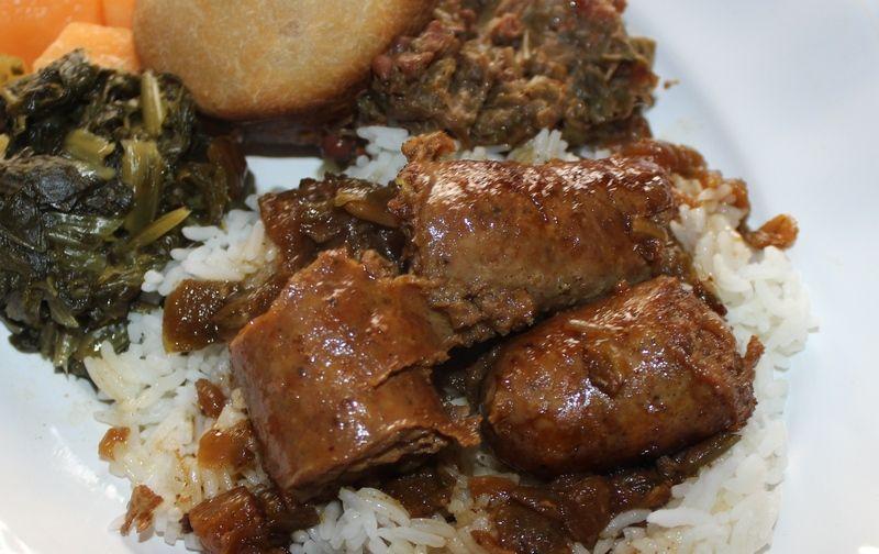 Fresh Sausage Rice and Gravy #cajuncooking
