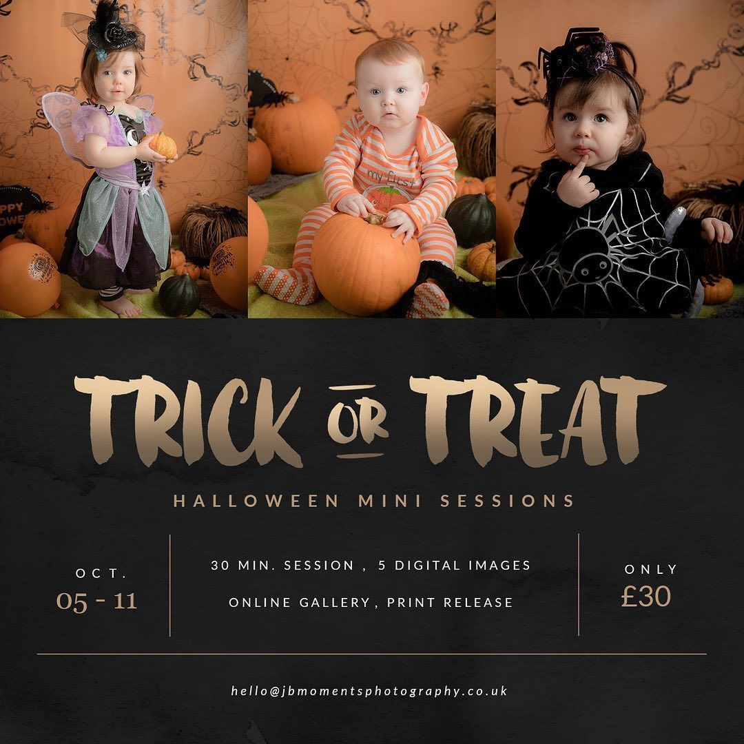 2020 has felt more like a trick than a treat! ⠀⠀⠀⠀⠀⠀⠀⠀⠀ But here's a treat - Halloween Mini Sessions are now available to book. Simply click on the book now link in my bio.  . . . . . #FalkirkPhotographer #FifeForKids #MumBloggerUk  #ThroughTheLens #ShotWithLove #StudioShoot #FalkirkMums  #EdinburghMums #GlasgowMums #Falkirk #BabyMilestones #SitterSession #Halloween2020 #TrickOrTreat2020 #HalloweenMiniSessions
