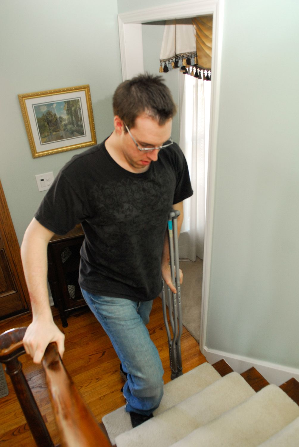 Walk On Crutches Crutches Pinterest Crutch And Physical Therapy