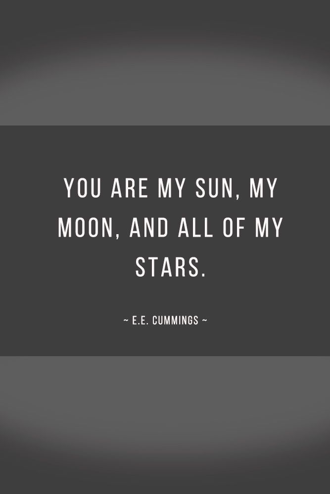 love words You are my sun, my moon, and all of my stars. #quotes #love Explore inspirational love quotes. When falling in love, we feel so happy. Share these quotes with your true soulmate. #glaminati #lifestyle #lovequotes