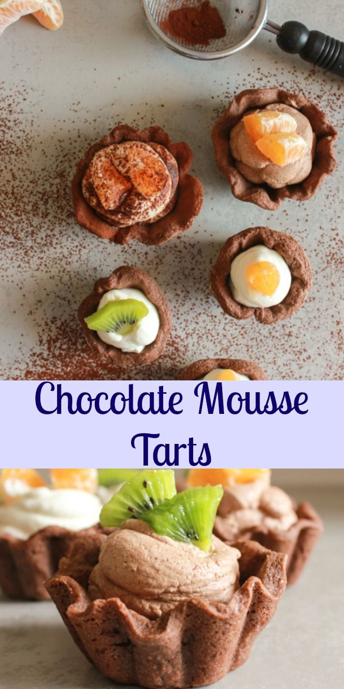 Chocolate Mousse Tarts, The Perfect Simple,easy, Light Dessert Recipe, Made  With