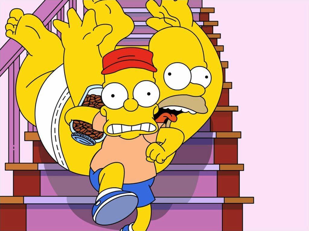 Sigueme en The Simpson (gif y meme)👈👈👈