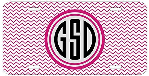 Personalized Monogrammed Chevron Hot Pink Black License Plate Auto Tag Top Craft Case http://www.amazon.com/dp/B00N0251SG/ref=cm_sw_r_pi_dp_GIotub1WFYRYG