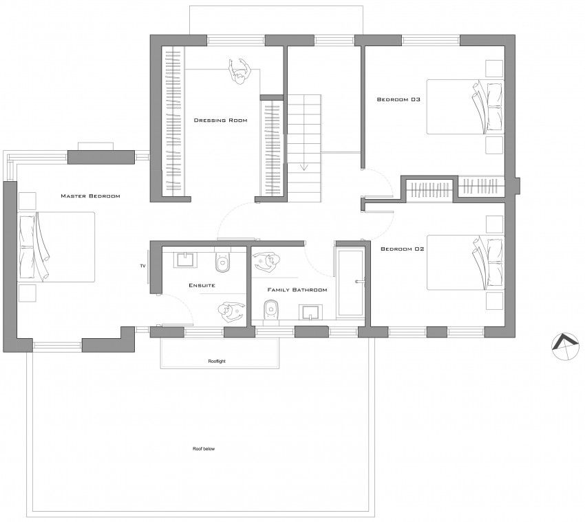 Ar Design Studio Architects Remodel A 4 Bedroom Home In Richmond Georgian Homes House Floor Plans House Plans