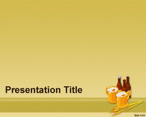 beer barley powerpoint template is a free yellow theme for