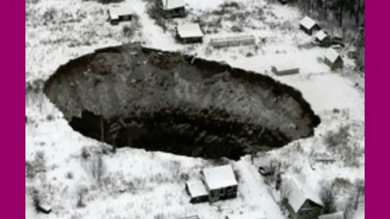 SINKHOLE Opens up in Russia's Ural Mountains