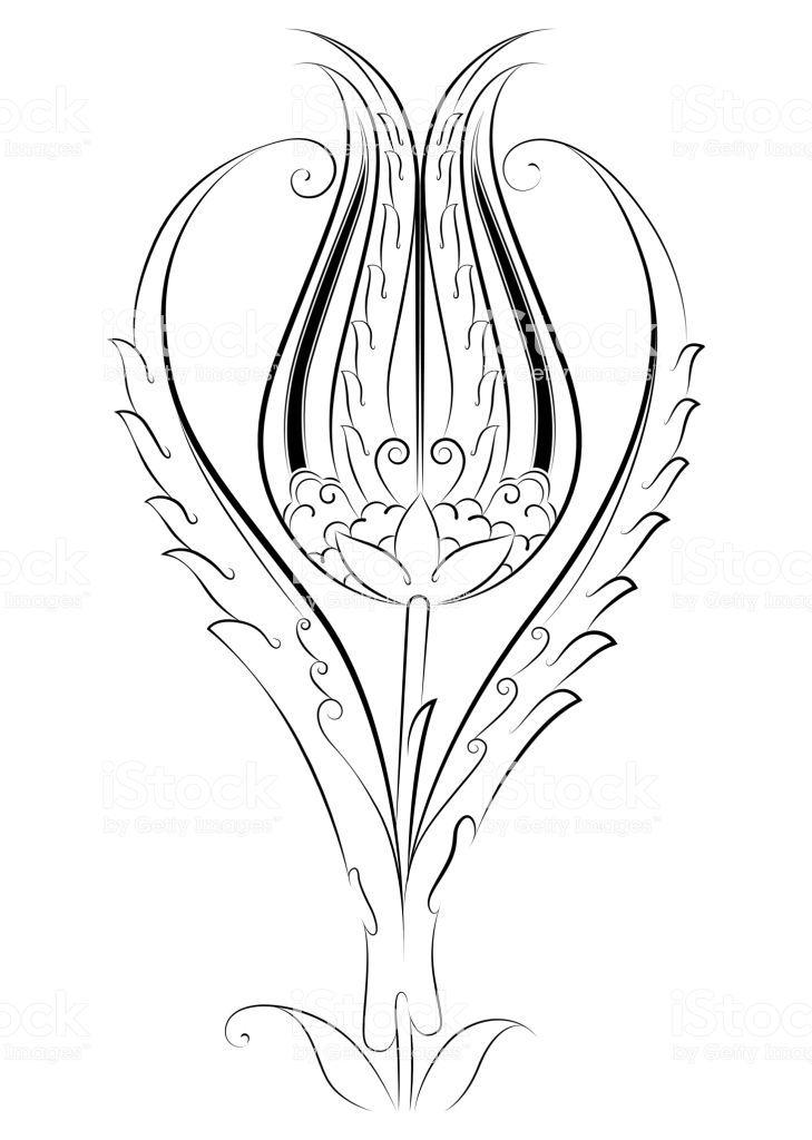 Osmanli Lale Deseni Cicek Turk Motifi Royalty Free Osmanli Lale Deseni Cicek Turk Motifi Stok Vektor Sanati Amp Antika Nin Daha Faz Laleler Tezhip Desenler