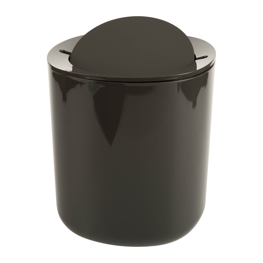 Superieur Alessi   Birillo Bathroom Waste Bin   Dark Grey
