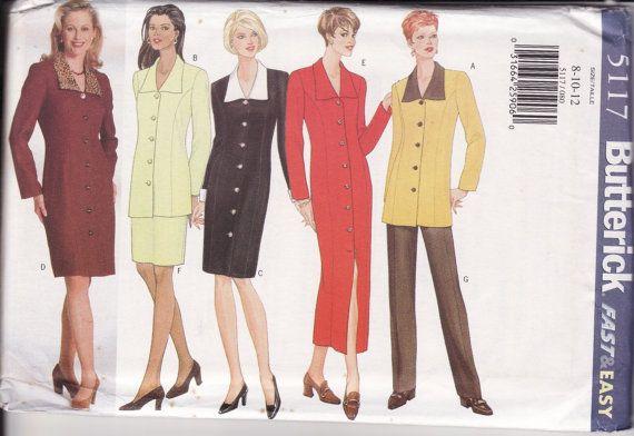 WOMEN'S SEWING PATTERN Butterick 5117 Very  Easy by retrochick66, $6.95