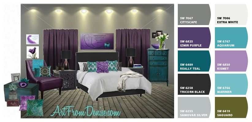 I Just Spotted The Perfect Colors Purple Bedrooms Bedroom Makeover Gray And Purple Bedroom Teal purple bedroom ideas