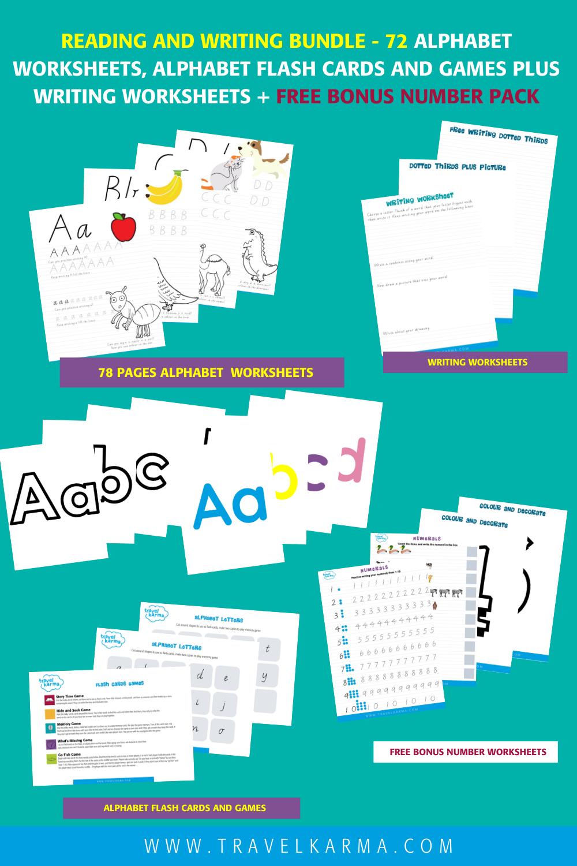 Reading and Writing Printable Worksheet bundle