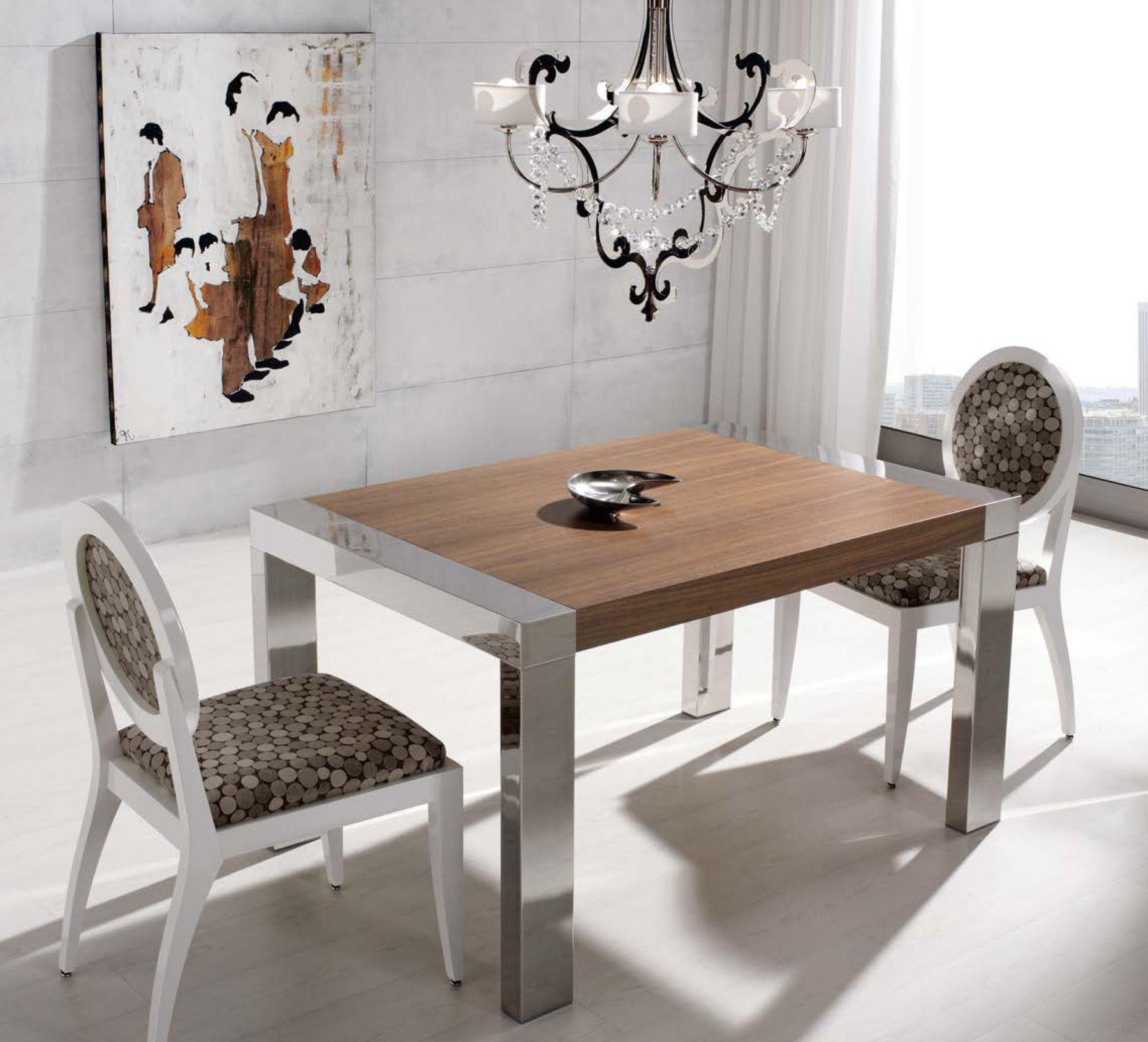 Mesa de comedor 120 x 90 cm extensible 190 cm tapa en for Comedor ovalado extensible