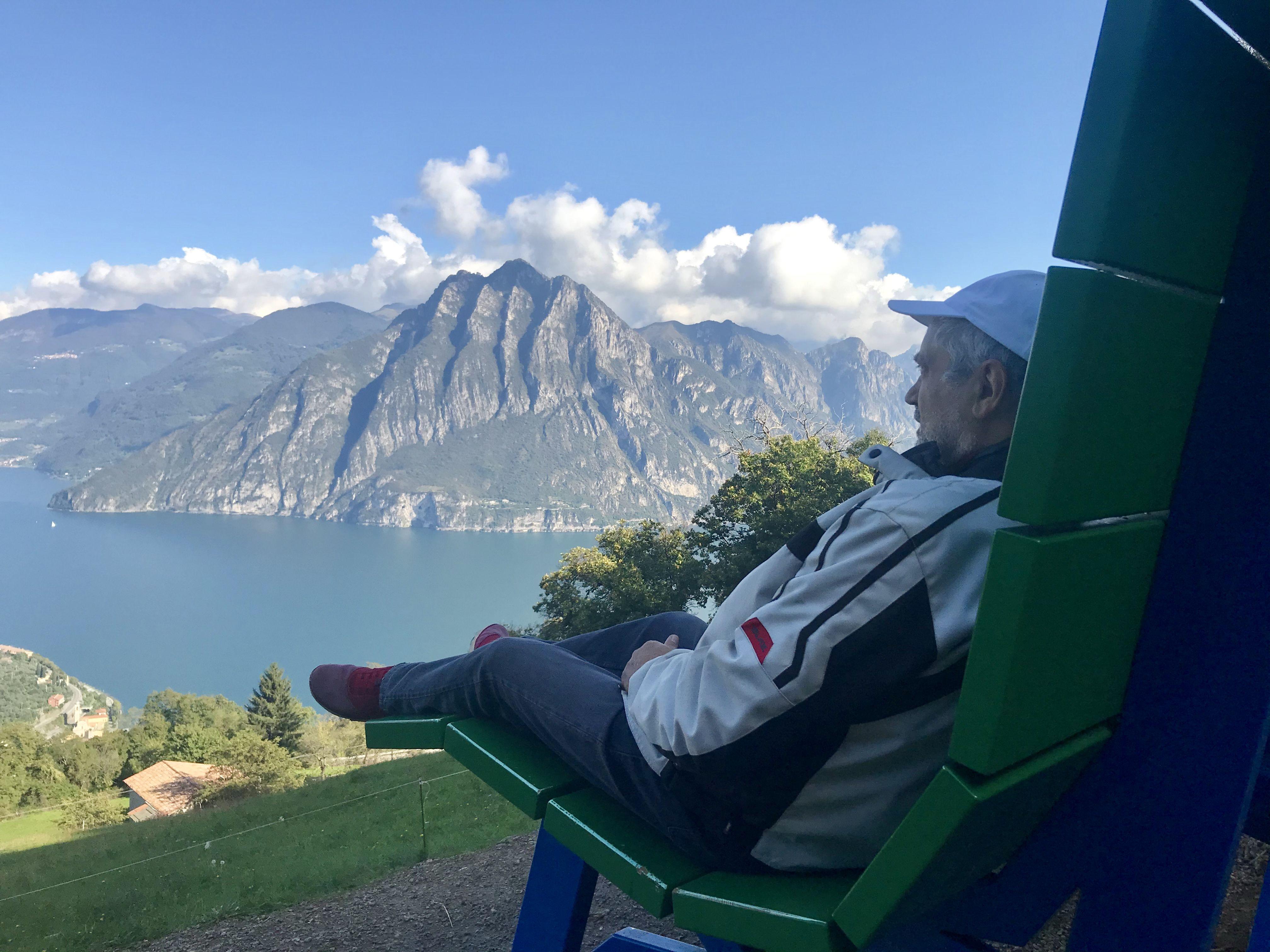 Riva Di Solto Fonteno Panorama Sul Lago Di Iseo Landscape