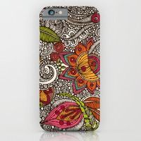 iPhone 6 Cases featuring Random Flowers by Valentina Harper