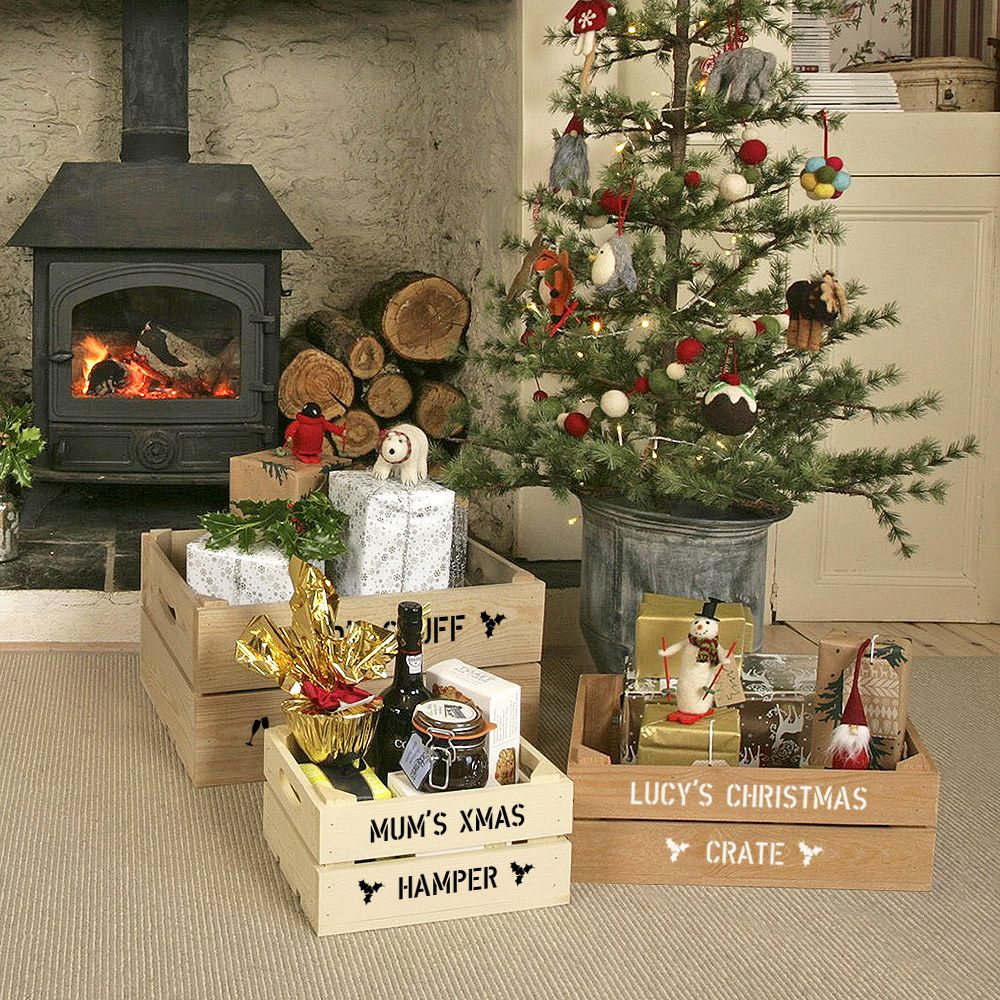 Christmas gift crates from plantaboxcouk diy christmas