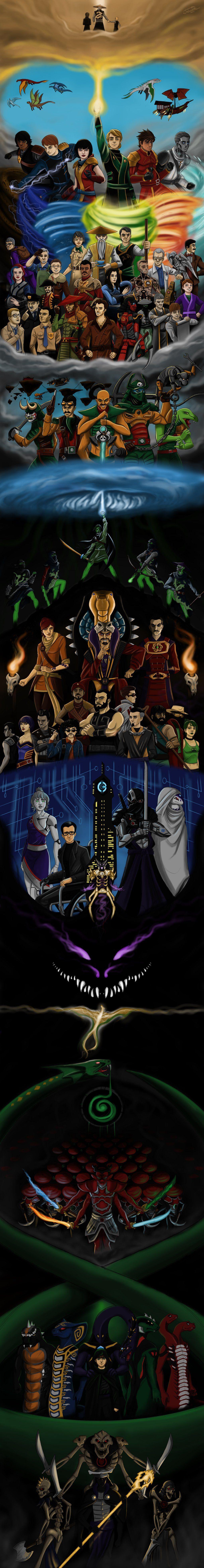 ultimate ninjago posterjoshuad17  lego ninjago movie