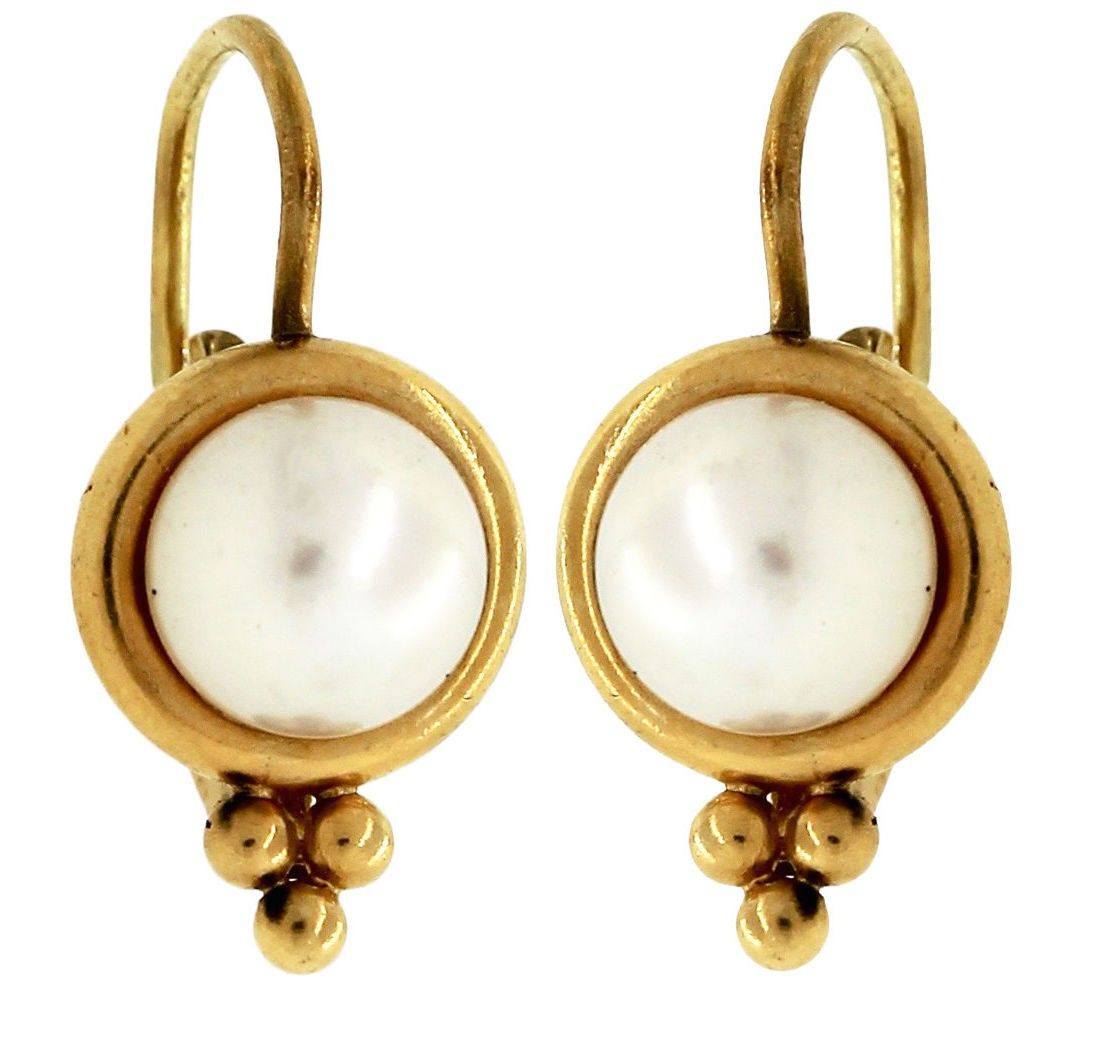 Temple St  Clair Temple St  Clair 22K Yellow Gold Pearl Drop