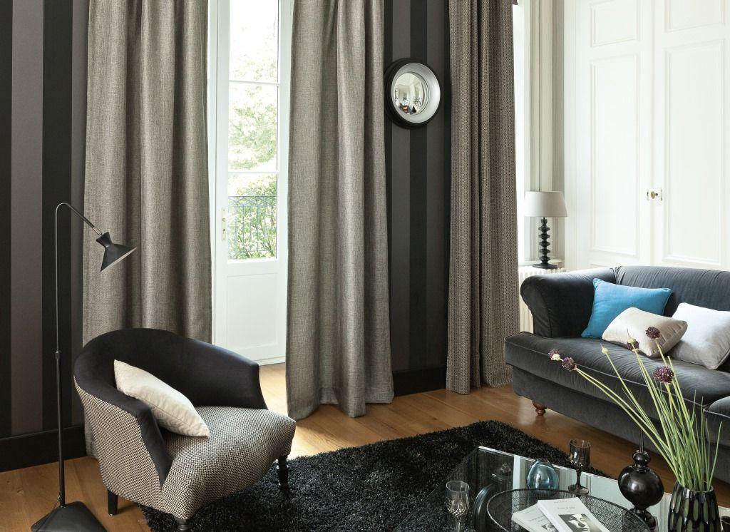 rideau confectionn sur mesure par saint maclou avec le tissu rh a gris rideau confectionn sur. Black Bedroom Furniture Sets. Home Design Ideas