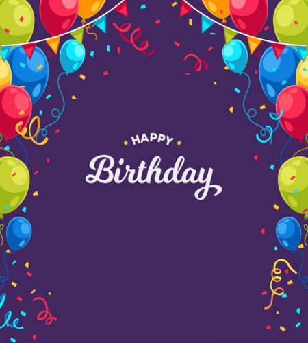 تصميم اطار بالونات يوم الميلاد ملف مفتوح Happy Birthday Frame Happy Birthday Wallpaper Birthday Background