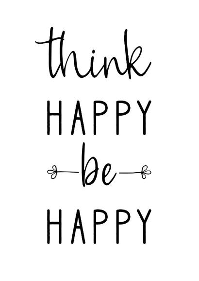 Grußkarte Spruch Think happy be happy di 2020