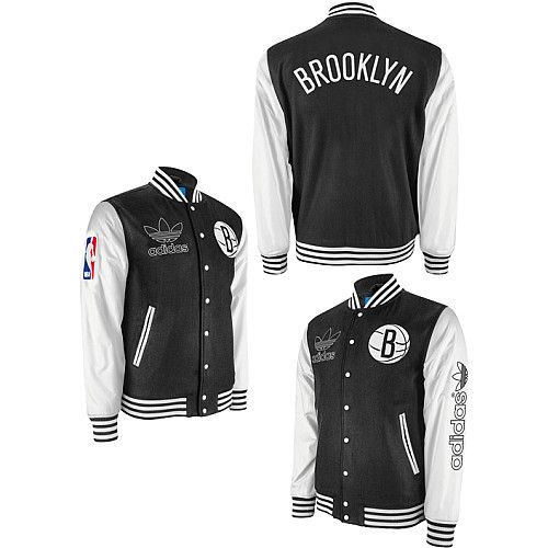 Adidas Original Brooklyn Nets Varsity Wool Jacket | I