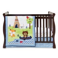 Boys' Adventure Land 3-Piece Crib Set - Woodland Animals - Kmart