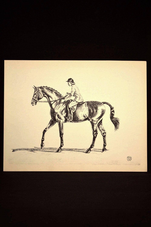 Horse Show Print Wall Art Horse Wall Decor Book Plate | Wall Decor ...