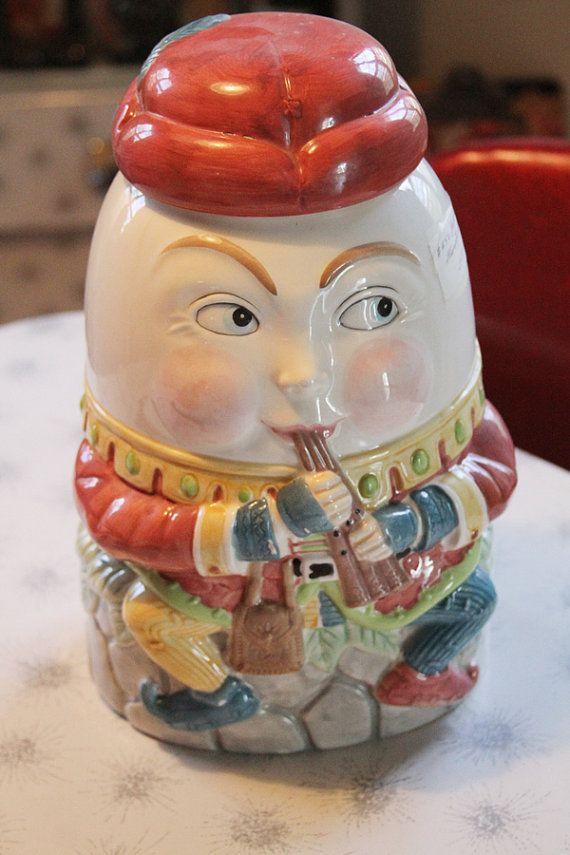 Disney Cookie Jar Etsy >> Shafford Humpty Dumpty Cookie Jar By Sideshowvintage On Etsy 90 00