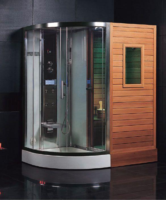 Ariel Platinum Ds202 Steam Shower And Finnish Sauna Combo Sweet Steam Showers Steam Shower Enclosure