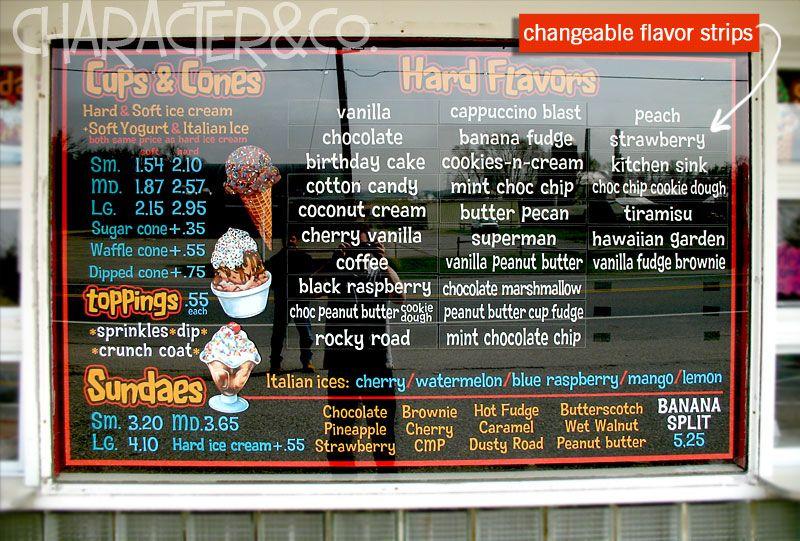 Ice Cream Shop Ideas On Pinterest Ice Cream Cones Menu