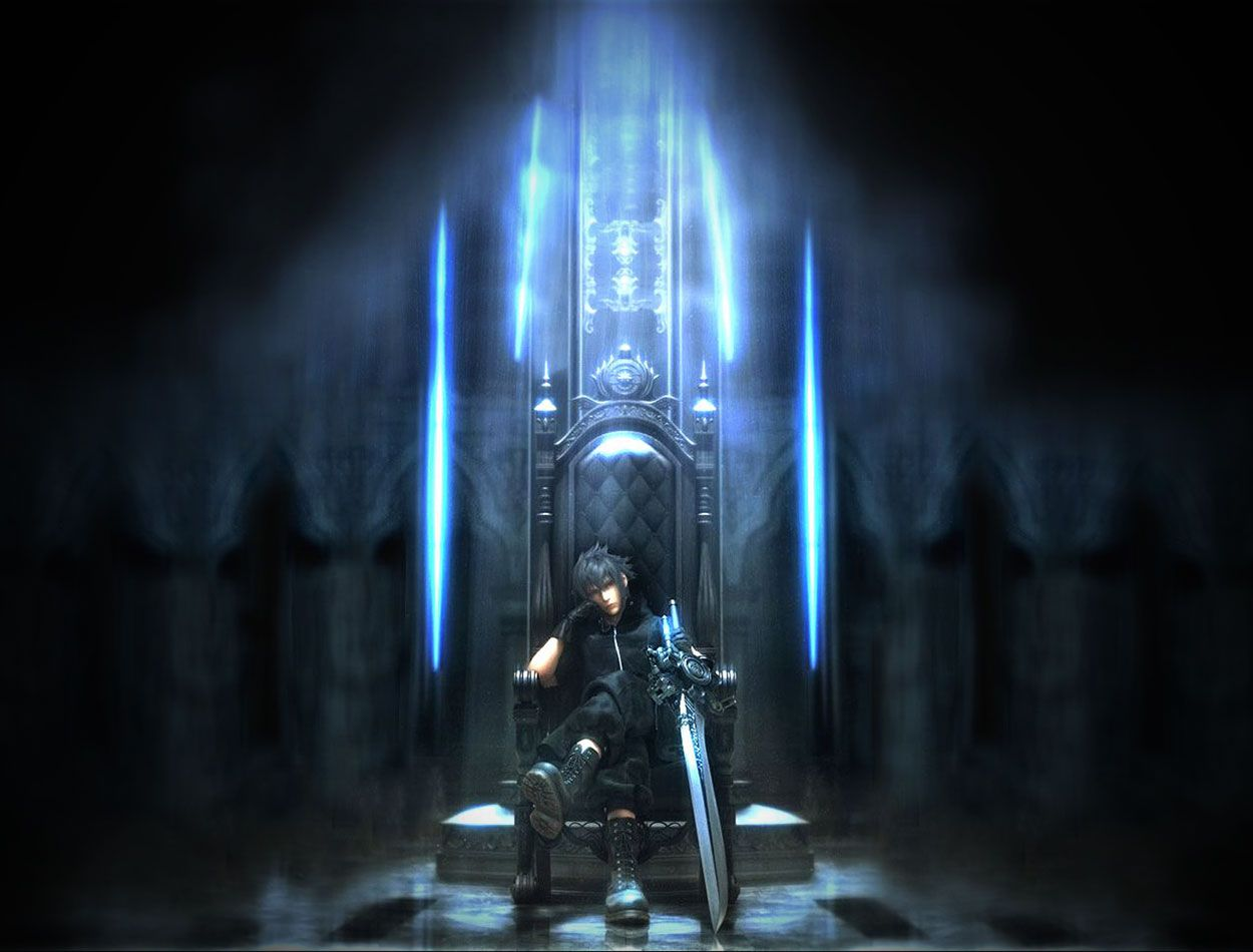Noctis on Throne - Characters & Art - Final Fantasy XV