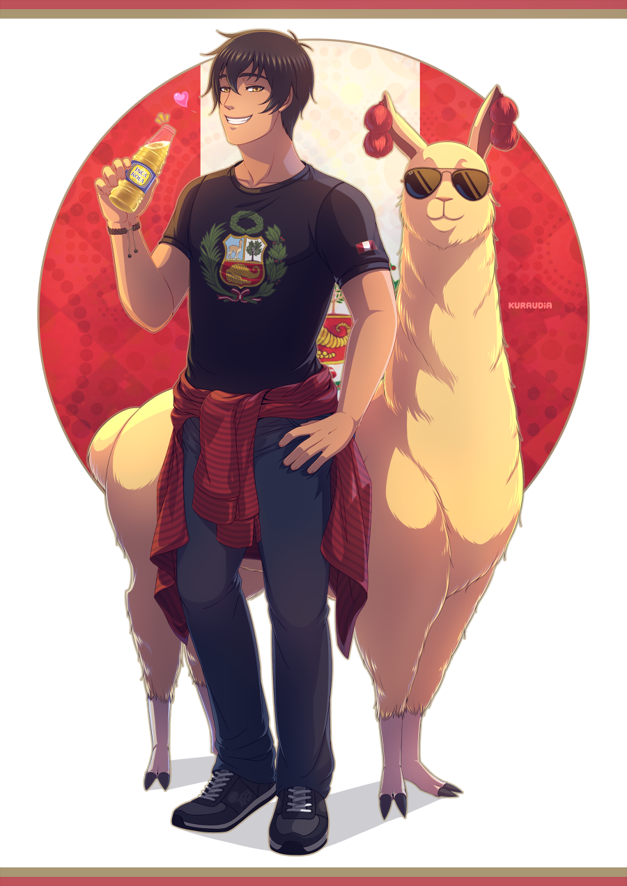 +LH Peru and Cool Llama fanzine entry+ by kuraudia on