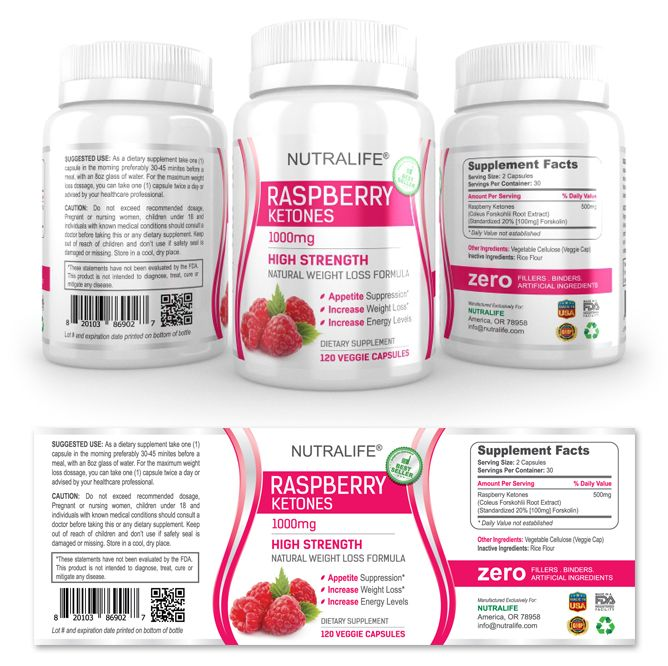 Raspberry Ketones Supplement Label Template HttpWwwDlayouts