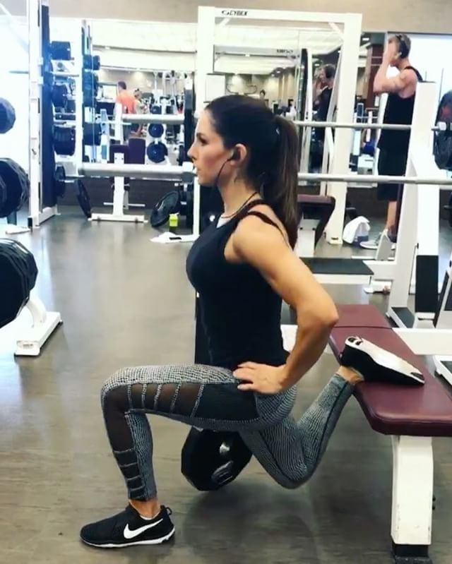 Bulgarian split squat: 15 each leg Goblet Squat w/ pulse: